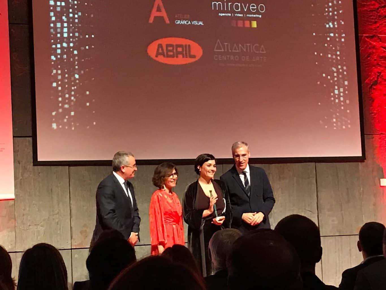 Adriana Domínguez recolle o Premio  Executivas 2018 polo seu exemplo de liderado feminino
