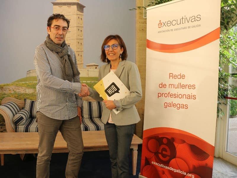 Executivas de Galicia firma un convenio de colaboración con HUB Escuela de Negocios Digitales