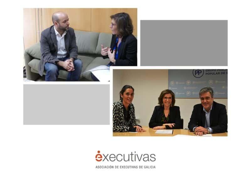 Executivas de Galicia mantuvo una reunión con los grupos parlamentarios del PP y En Marea para presentar Referentes Galegas