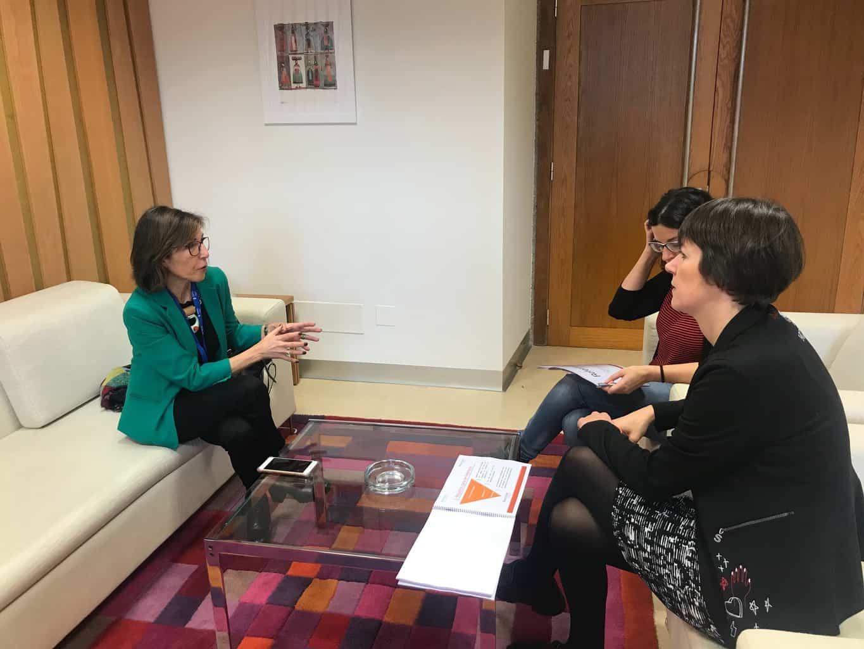 Executivas de Galicia presentó el programa Referentes Galegas al Grupo Parlamentario del BNG