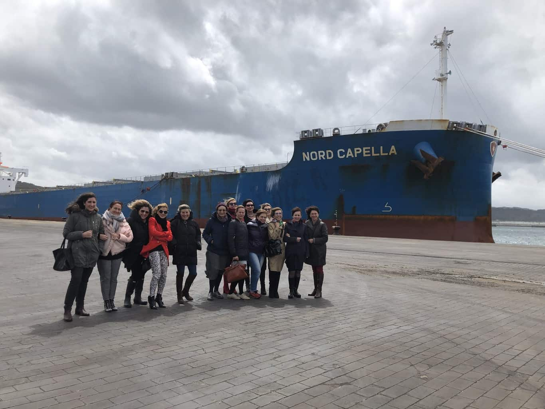 Executivas de Galicia coñeceu de primeira man o funcionamento e os proxectos da Autoridade Portuaria da Coruña