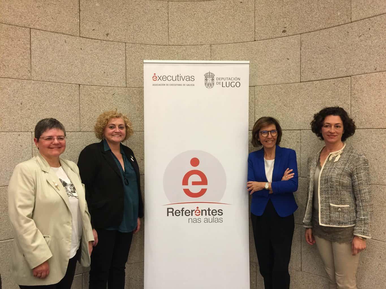 Executivas de Galicia y Deputación de Lugo presentan el programa Referentes Galegas nas Aulas en el que participan más de 700 alumnos y alumnas de la provincia