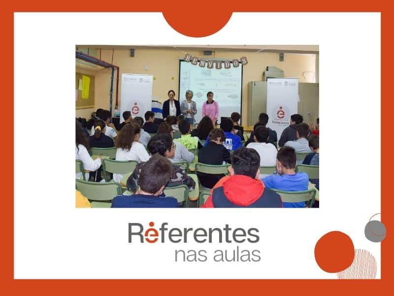 El programa Referentes Galegas nas Aulas inició sus actividades en el instituto Lama das Quendas de Chantada