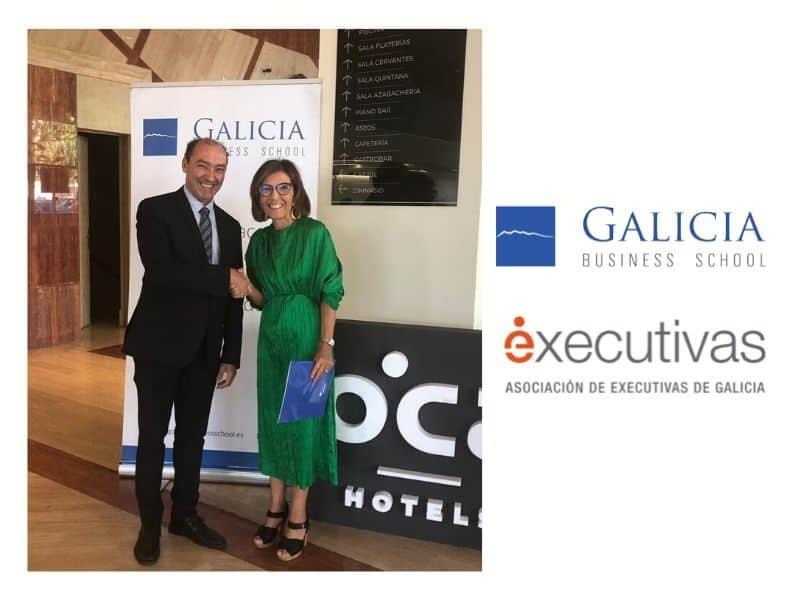 Executivas de Galicia y Galicia Business School firman un convenio de colaboración que beneficiará a sus 170 socias