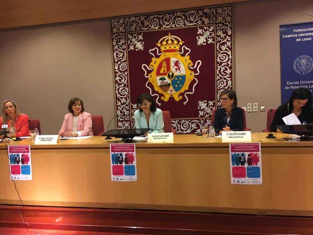 Executivas de Galicia participa na presentación do primeiro Máster Propio en Igualdade de Oportunidades e Xénero na Empresa da USC