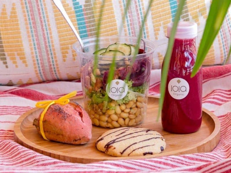 Disfruta de un catering saludable de Lola Organic con un 10% de descuento para socias