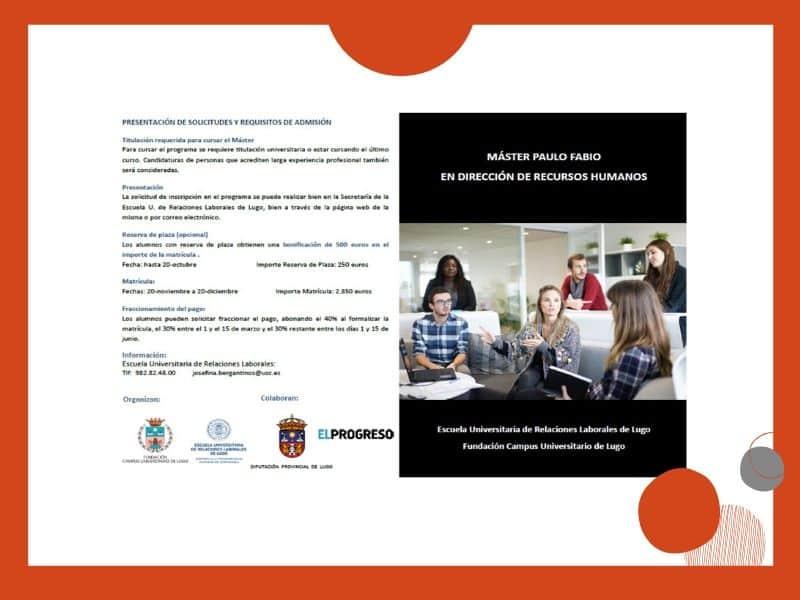 As socias de  Executivas poden beneficiarse de bolsas para a realización do Máster Paulo Fabio en Dirección de Recursos Humanos