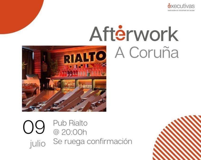 Afterwork en A Coruña el próximo jueves 9 de julio