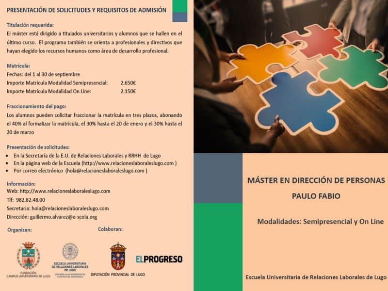 Las socias de Executivas pueden beneficiarse de becas para la realización del Máster en Dirección de Personas Paulo Fabio
