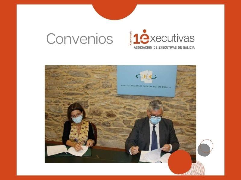 """Executivas firma un convenio coa Confederación de Empresarios de Galicia para impulsar e difundir """"Referentes Galegas"""